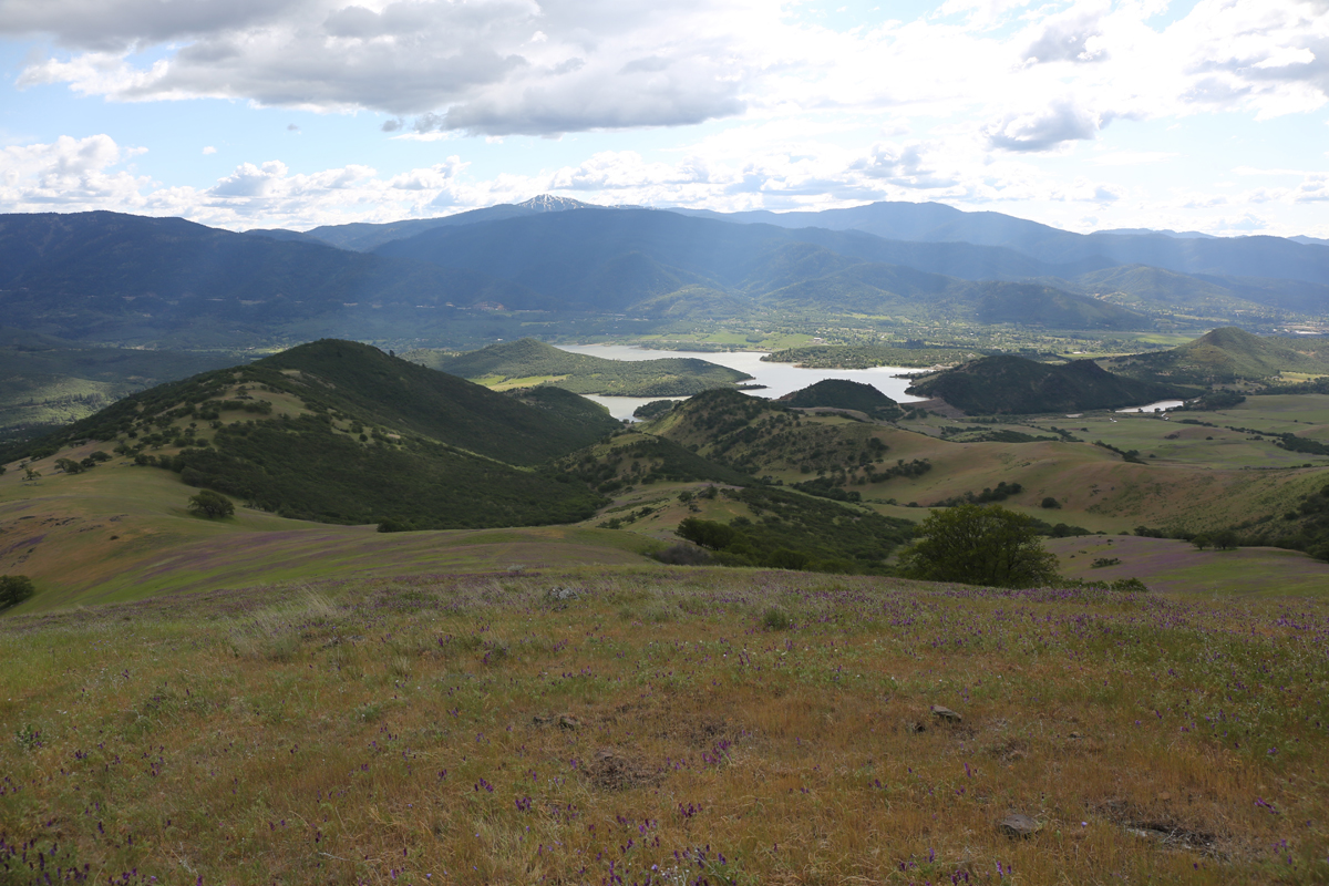 View from Samspon Creek looking west toward Emigrant Lake reservoir and eatern Siskiyou Mountains